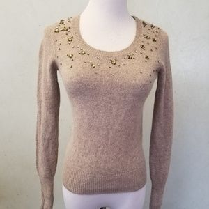 LOFT Rabbit Hair Rhinestone sweater (B 86-8)